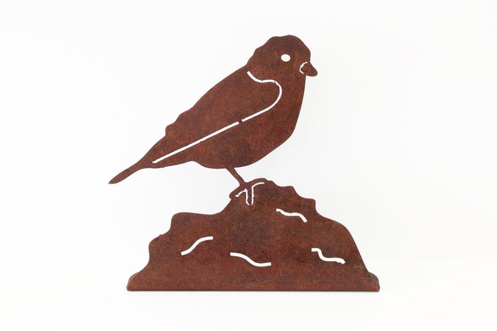 Vogel aus Corten -  Uccello in corten   Maße -  misure :  3,5 x 15,0 x 15,0 cm,€ 11,00