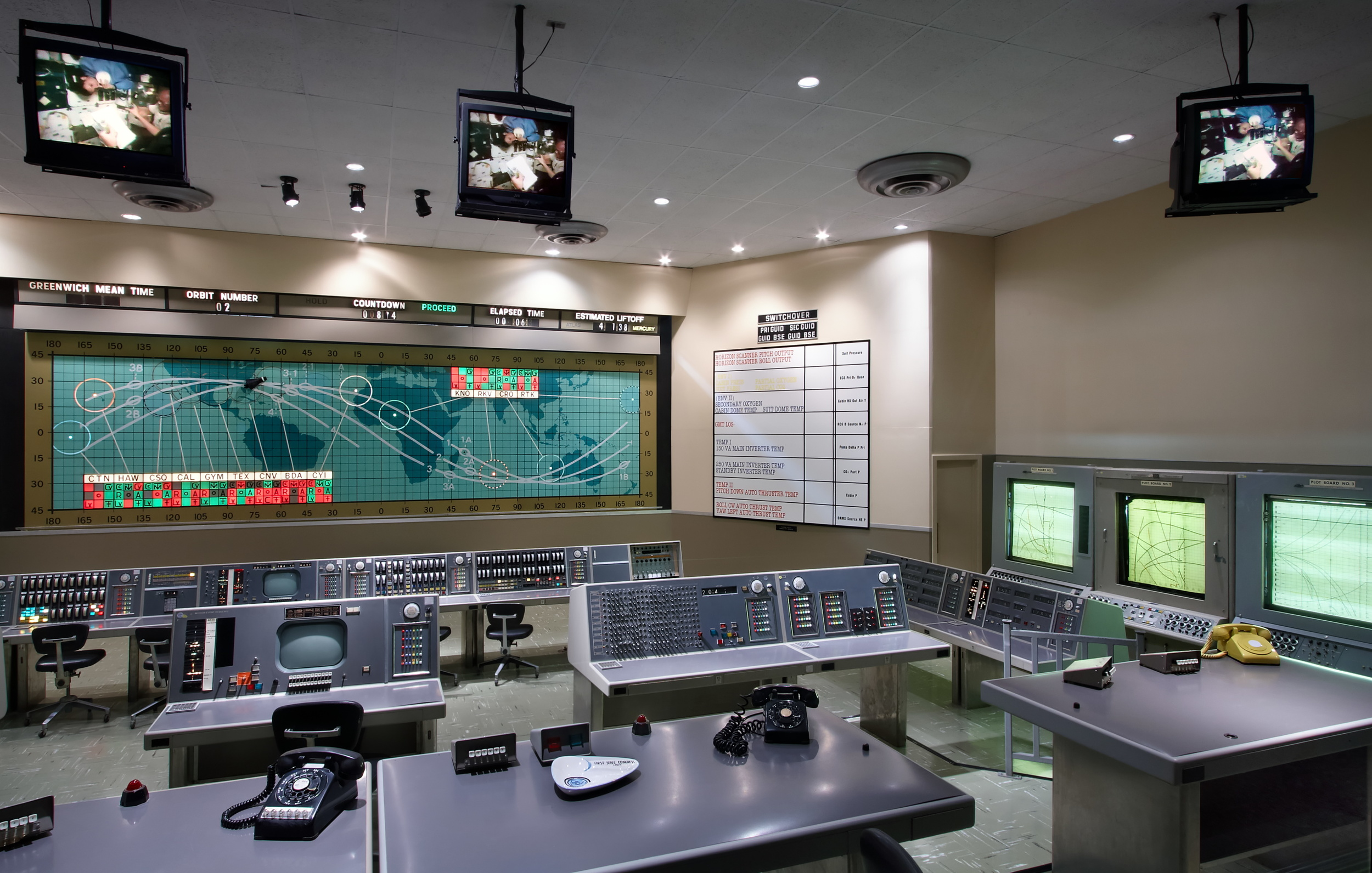 Early Control Room in KSC Visitor's Center