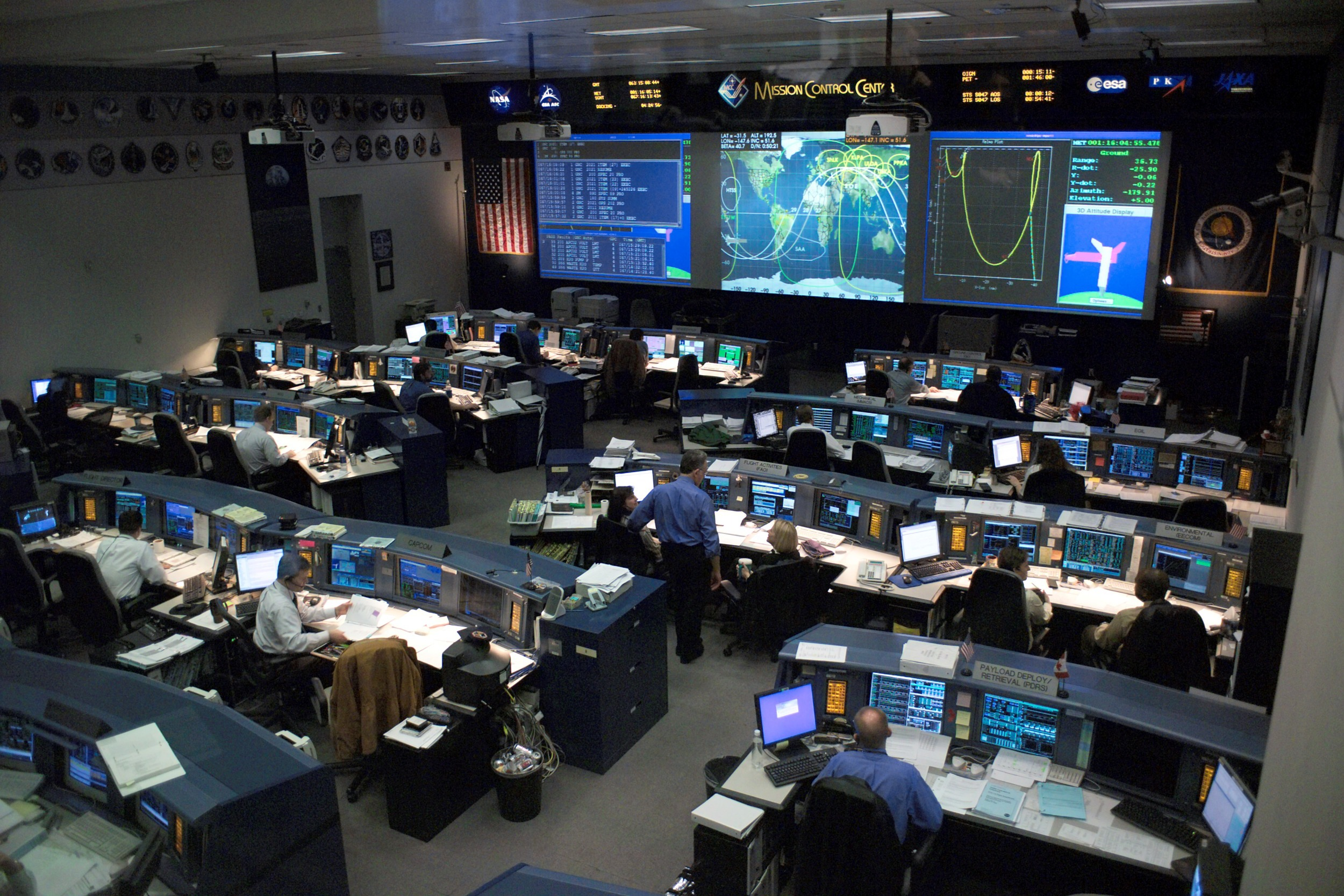 Space Shuttle Control Room