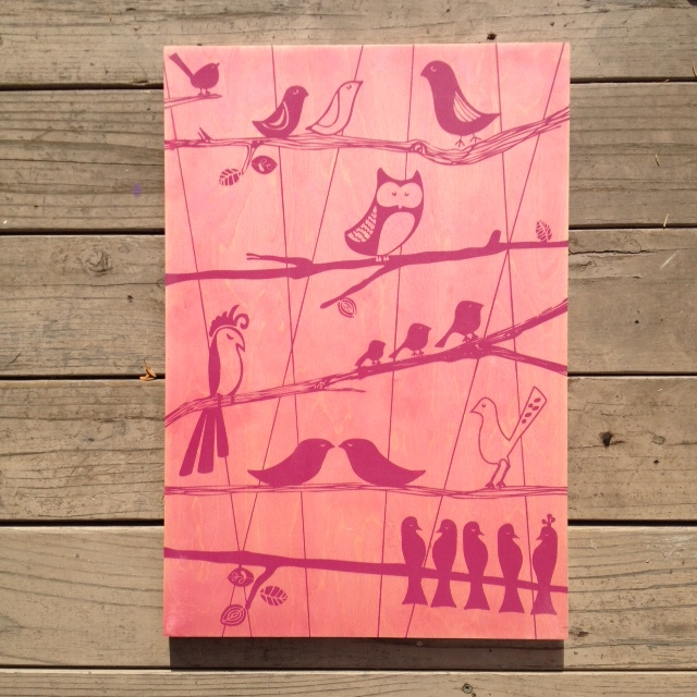 The Aviary - 15x21 - $110 (pink)