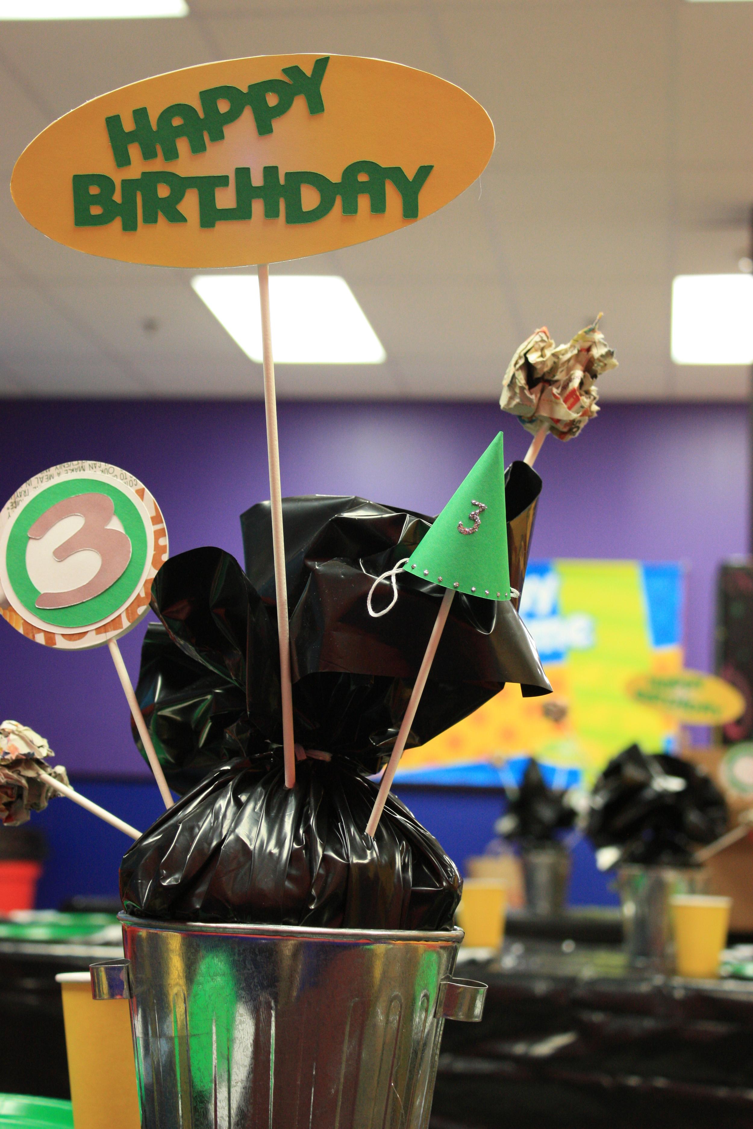 Garbage Theme Party Centerpiece