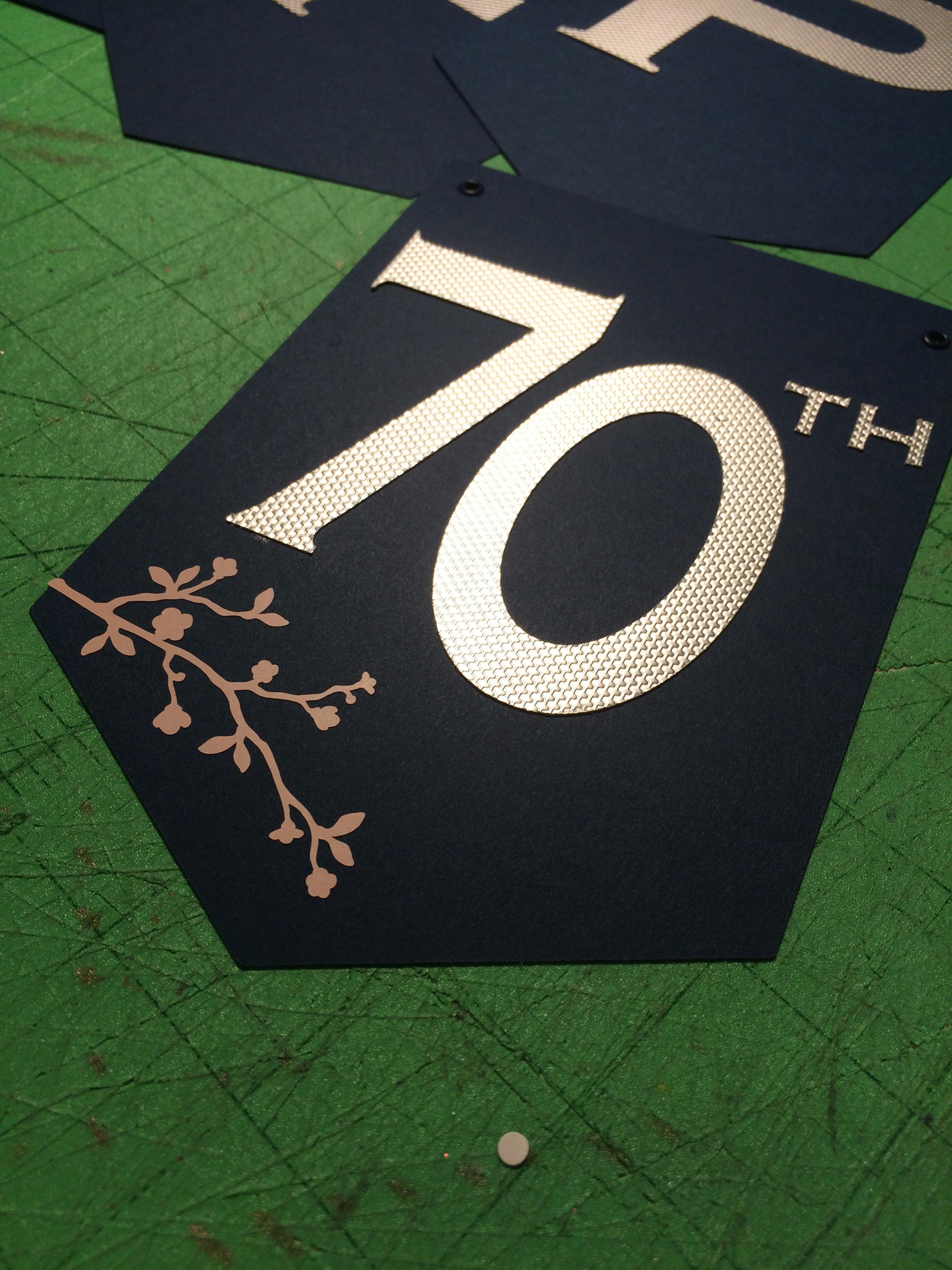 70th Birthday Banner Panel