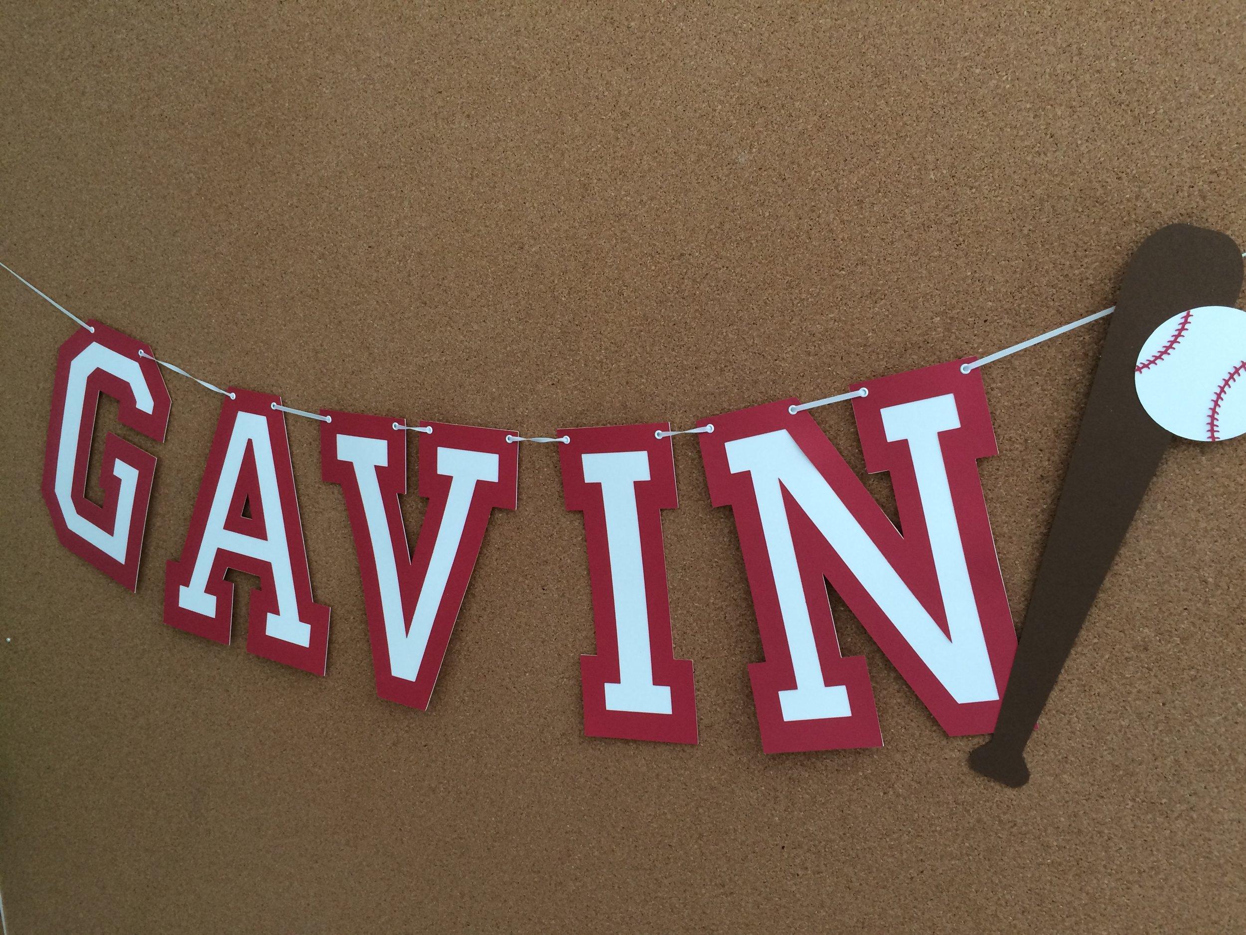 Baseball Theme Name Banner