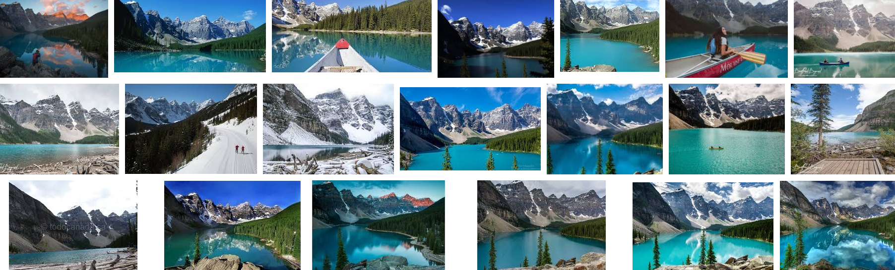 """The top results when you Google """"Moraine Lake"""". The series of jagged peaks and the blue-green water are a staple of the place. While there obviously are a ton of ways you can shoot the lake, this particular angle captures the very essence of what makes the place unique. Hence why I wanted to give it a shot."""