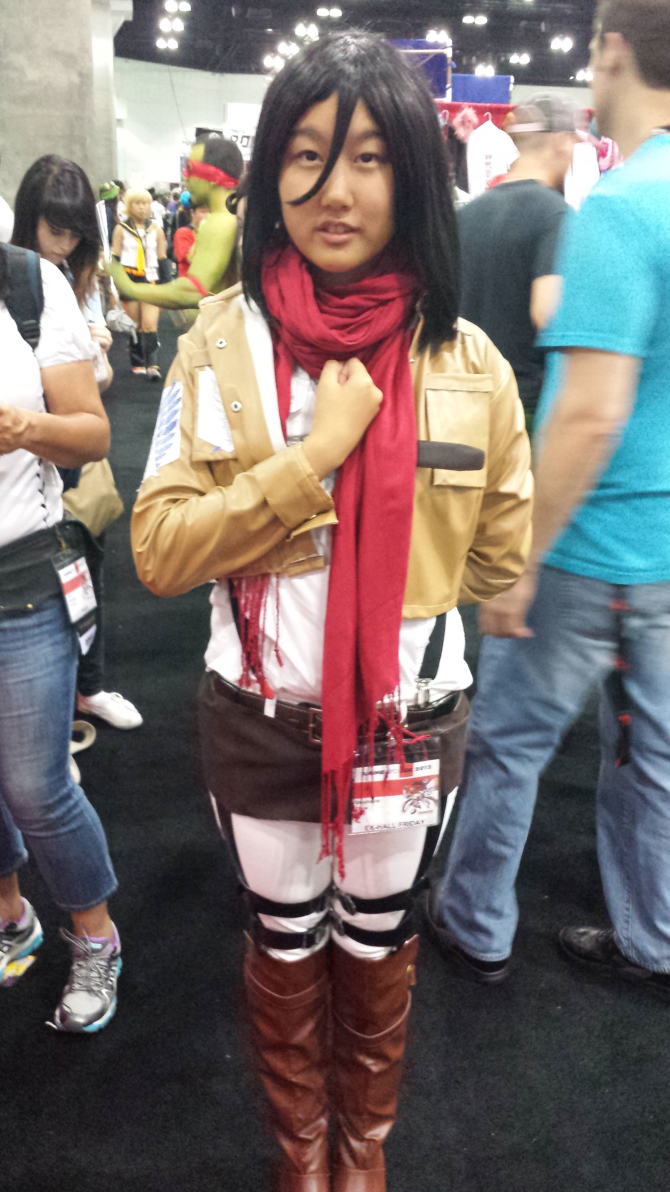 AnimeExpo 2013 - Mikasa ready for action