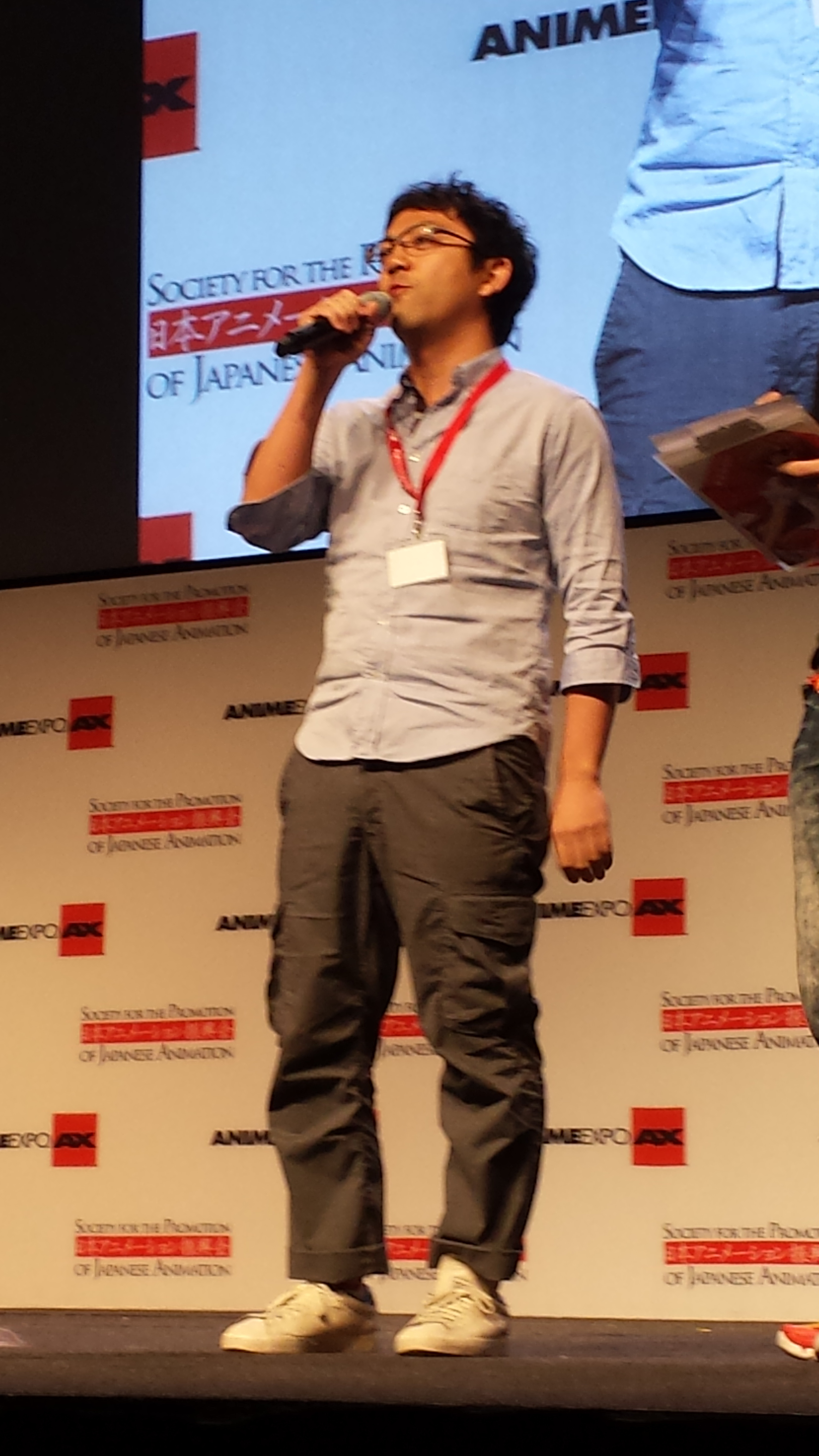AnimeExpo 2013 - George Wada at closing ceremonies
