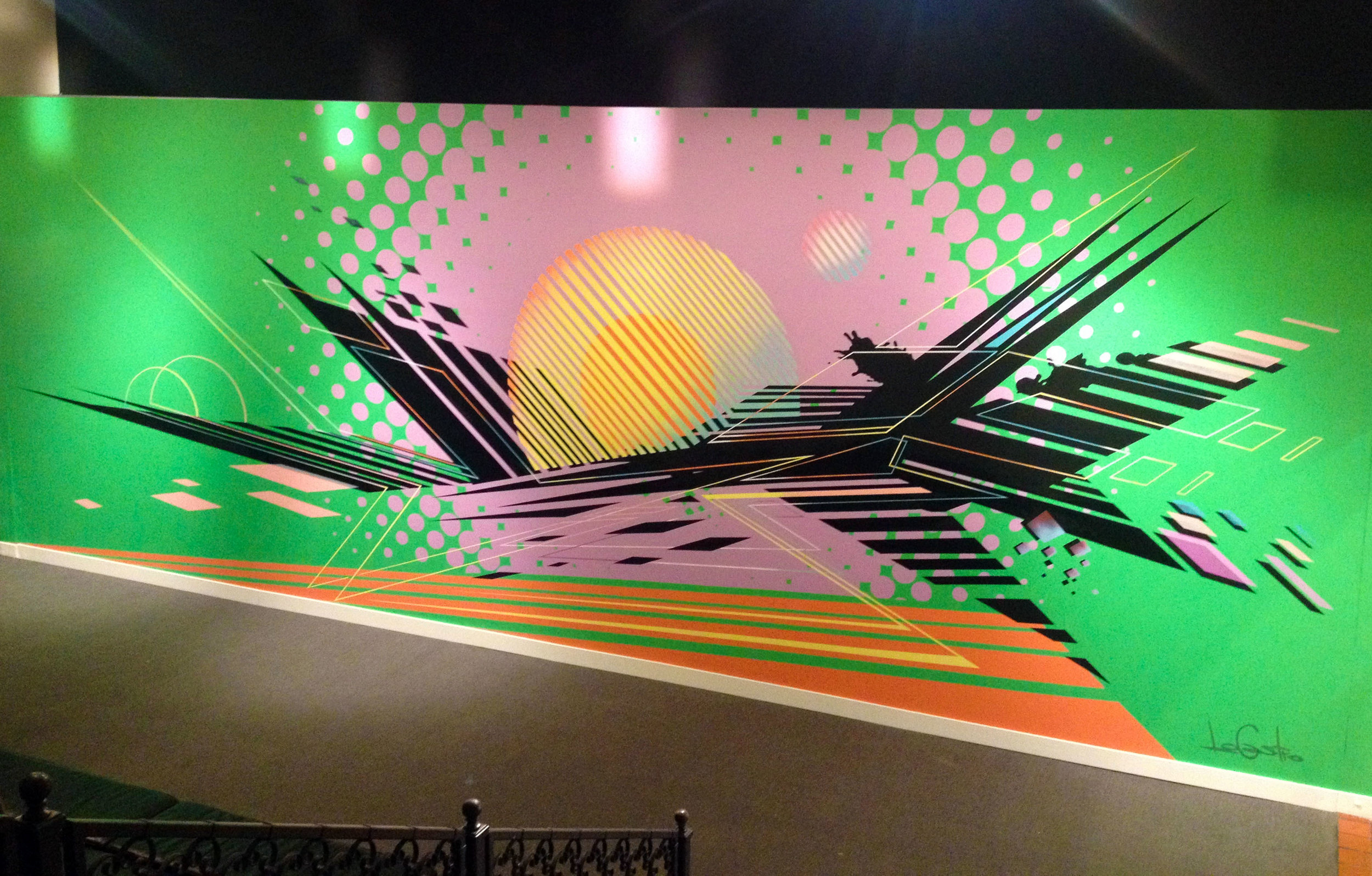 Mural installation, 2016, History Miami Museum, FL