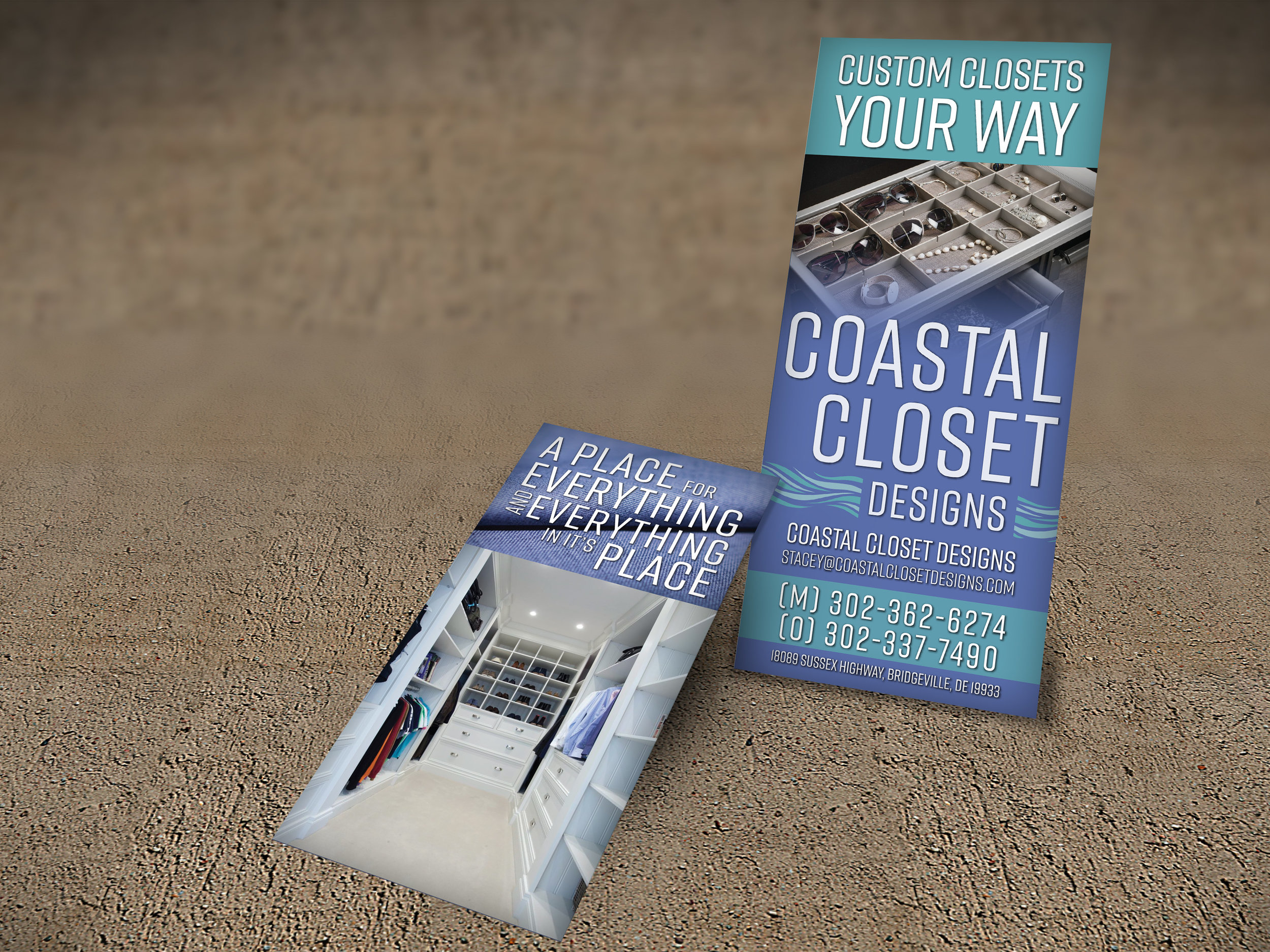 Coastal Closets Rack Card Design
