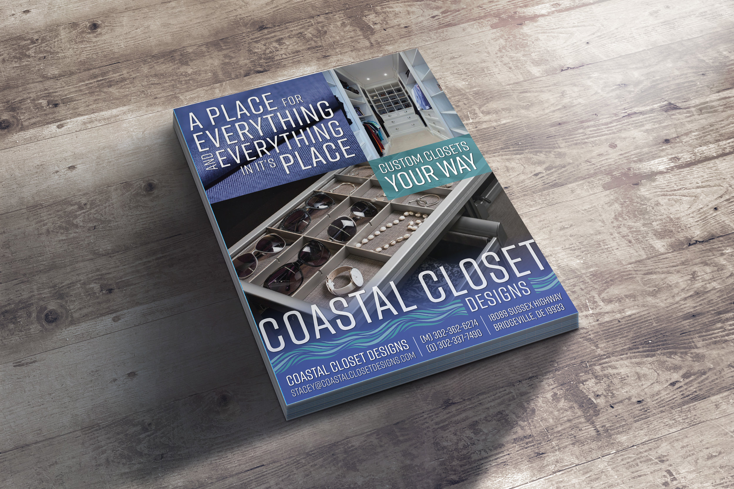 Coastal Closets Flyer Design
