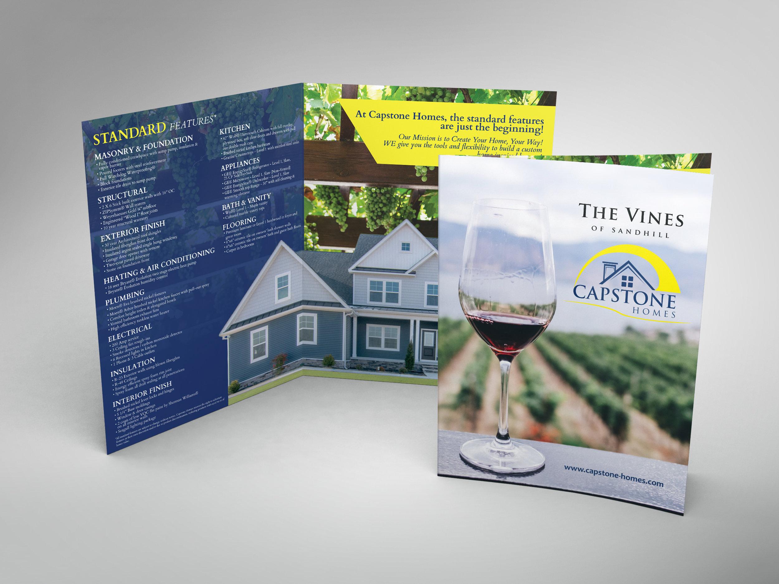 Builder Folded Brochure 11x17 Capstone Homes Delaware