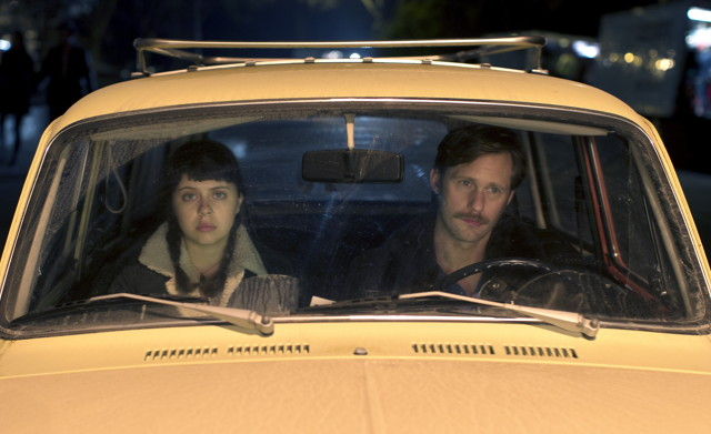 "Bel Powley and Alexander Skarsgard in ""The Diary of a Teenage Girl"""
