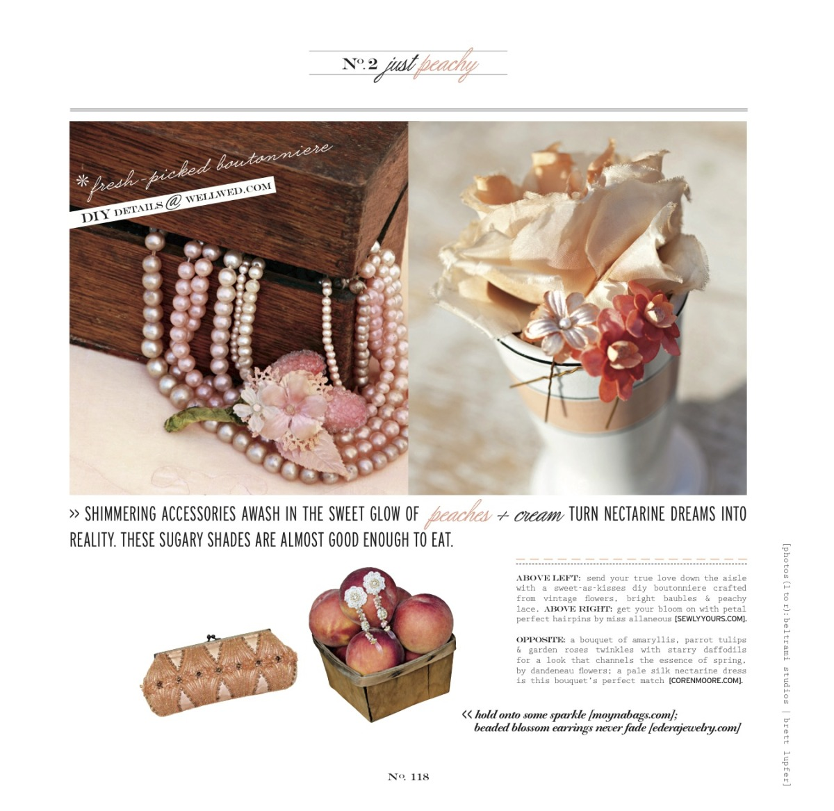 "The ""Climbing Roses"" Earrings, featured in the Spring/Summer 2012 Issue of Vermont Vows and WellWed Magazines."
