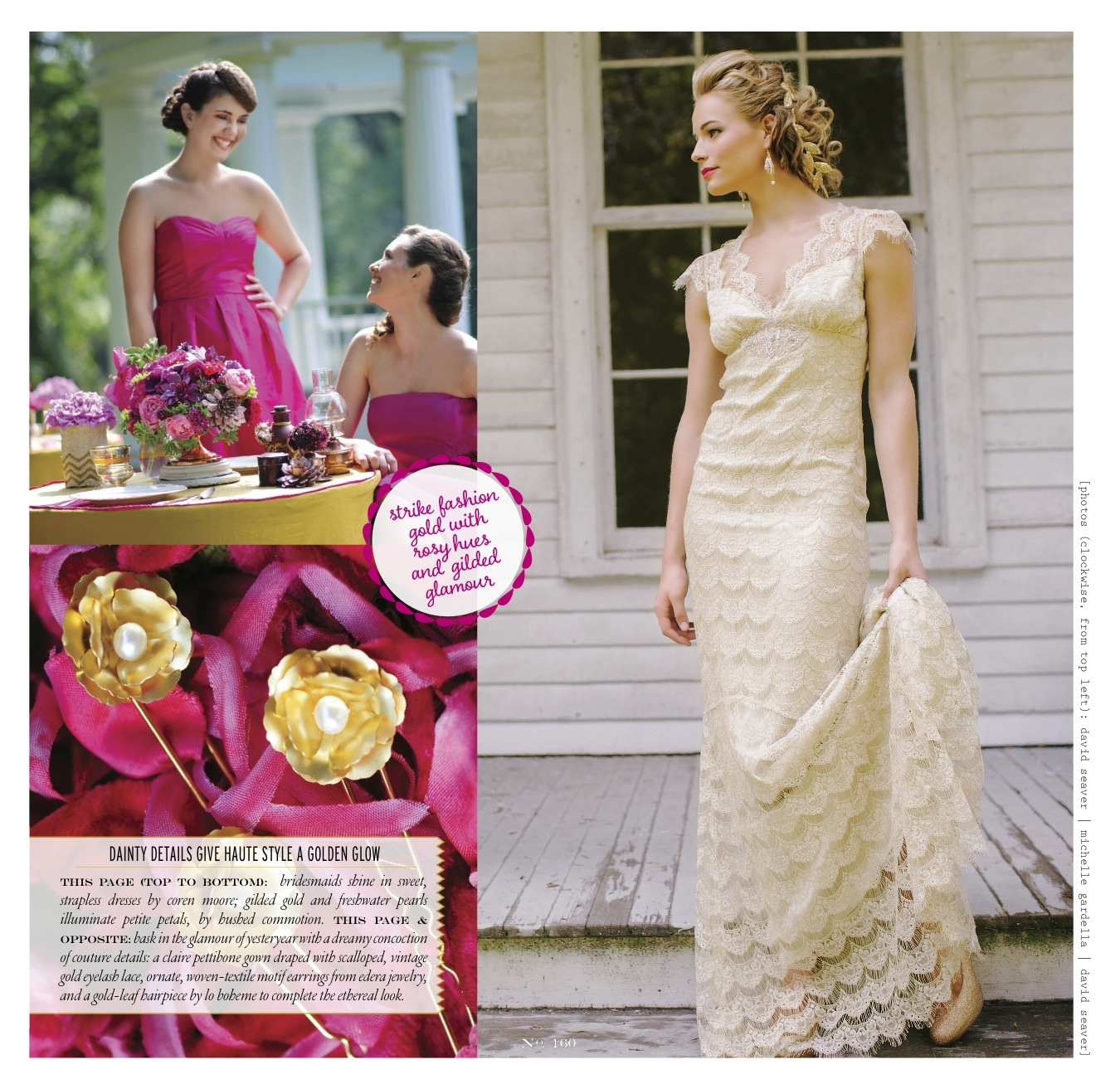 "The ""Aurora"" earrings, featured in Vermont Vows Magazine."