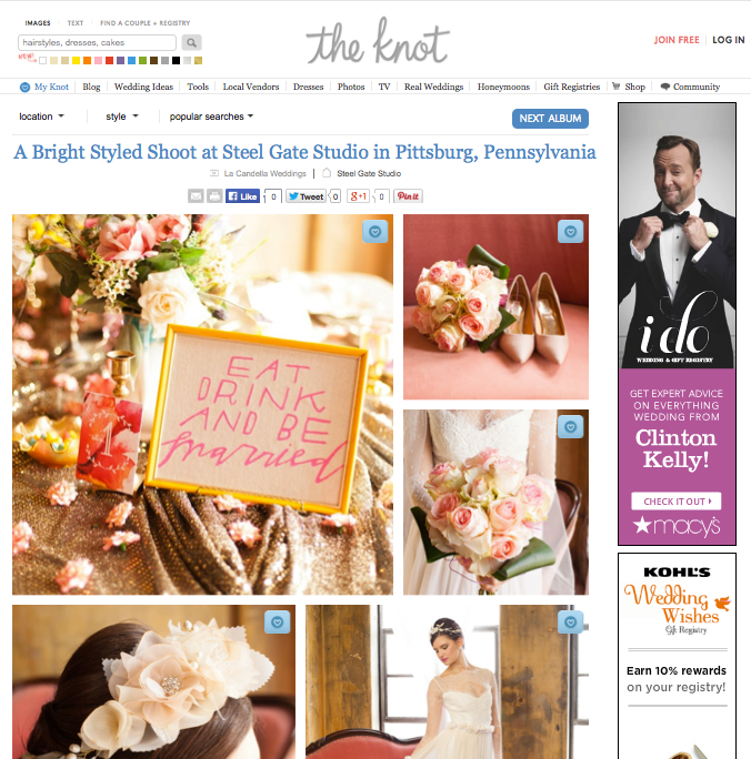 """Perla"" earrings featured on  The Knot  blog."
