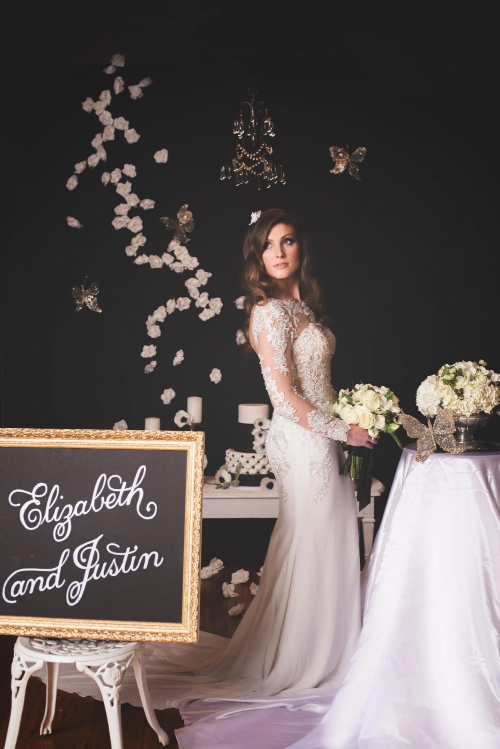 black and white bridal inspiration