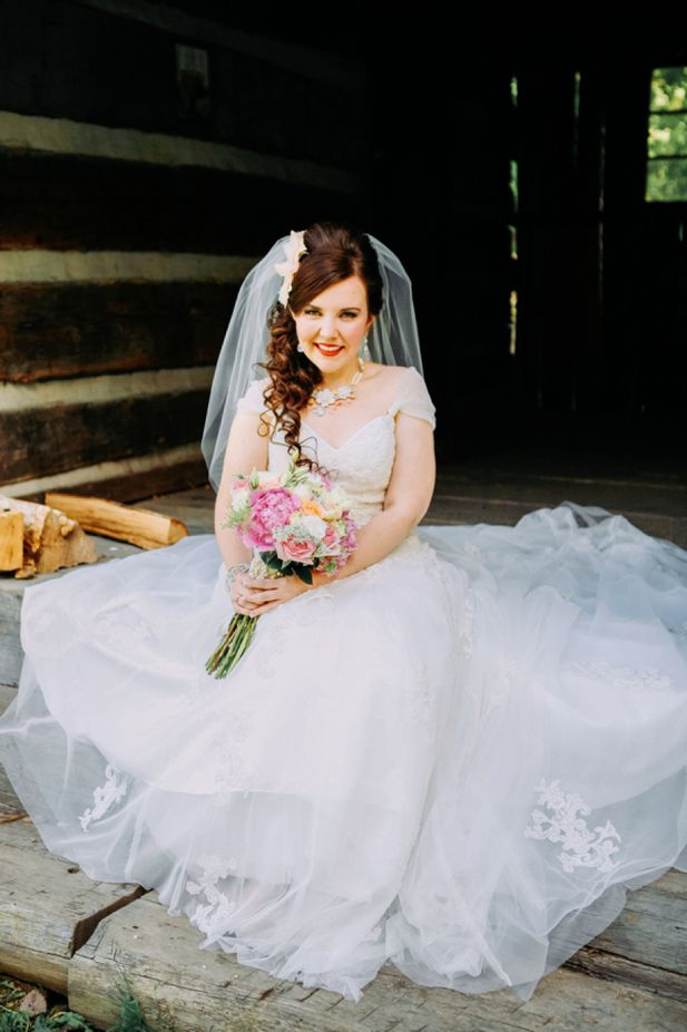 angie in custom rose wedding necklace
