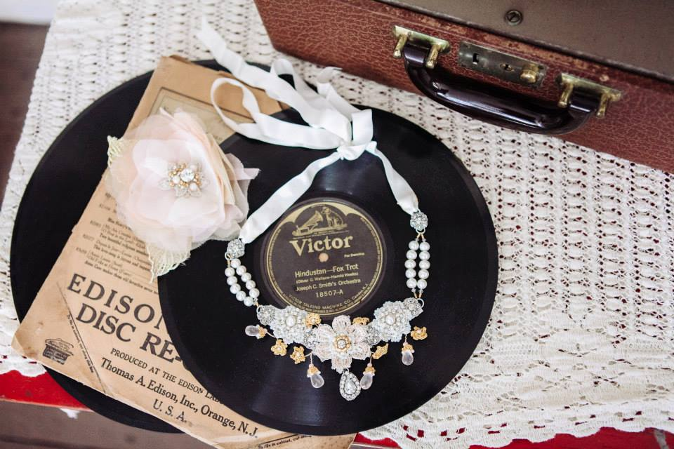 handmade rose statement wedding necklace