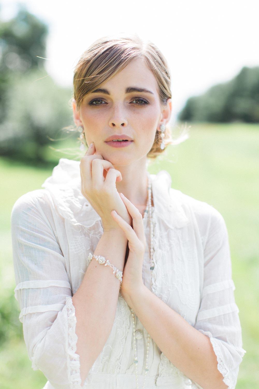 Fleurette Bracelet & Earrings, Mirabelle Necklace