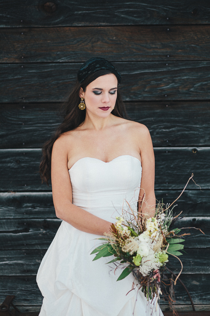 black and white bridal fashion | black and gold bridal statment earrings