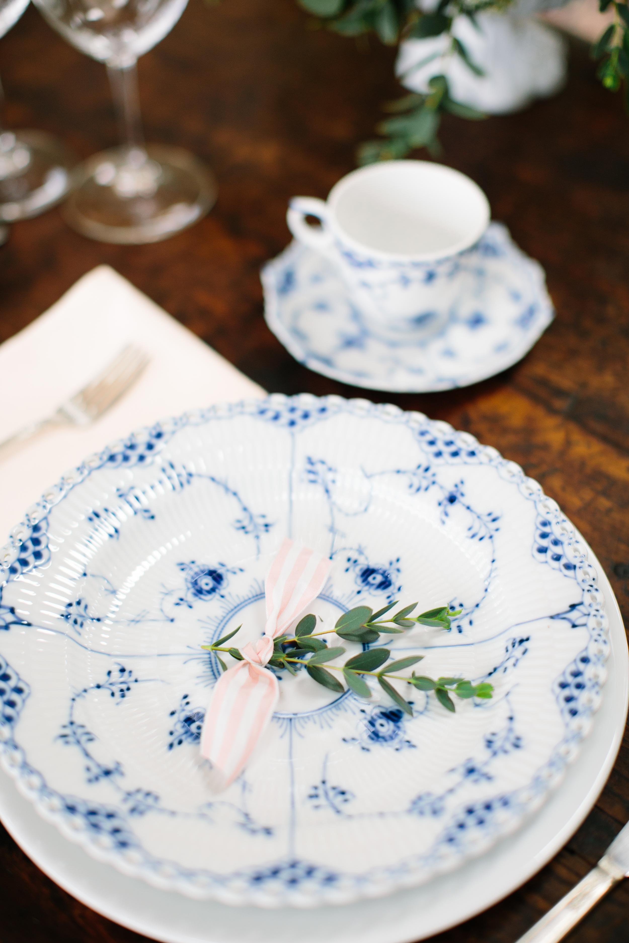 blue, peach, pink & white wedding inspiration   pearl bridal jewelry