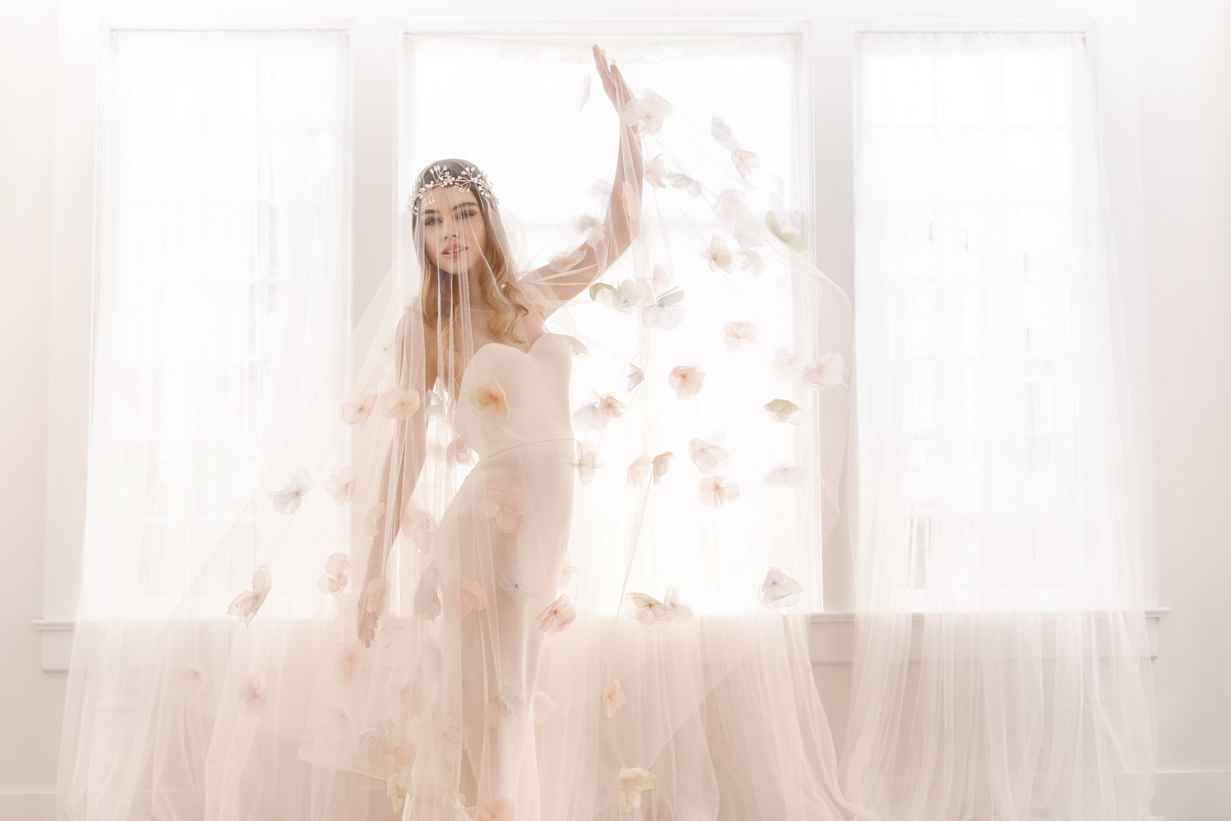 Couture Blush Bridal Veil