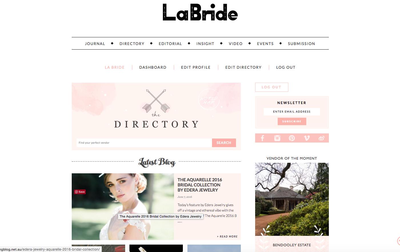 Edera Jewelry Featured on La Bride