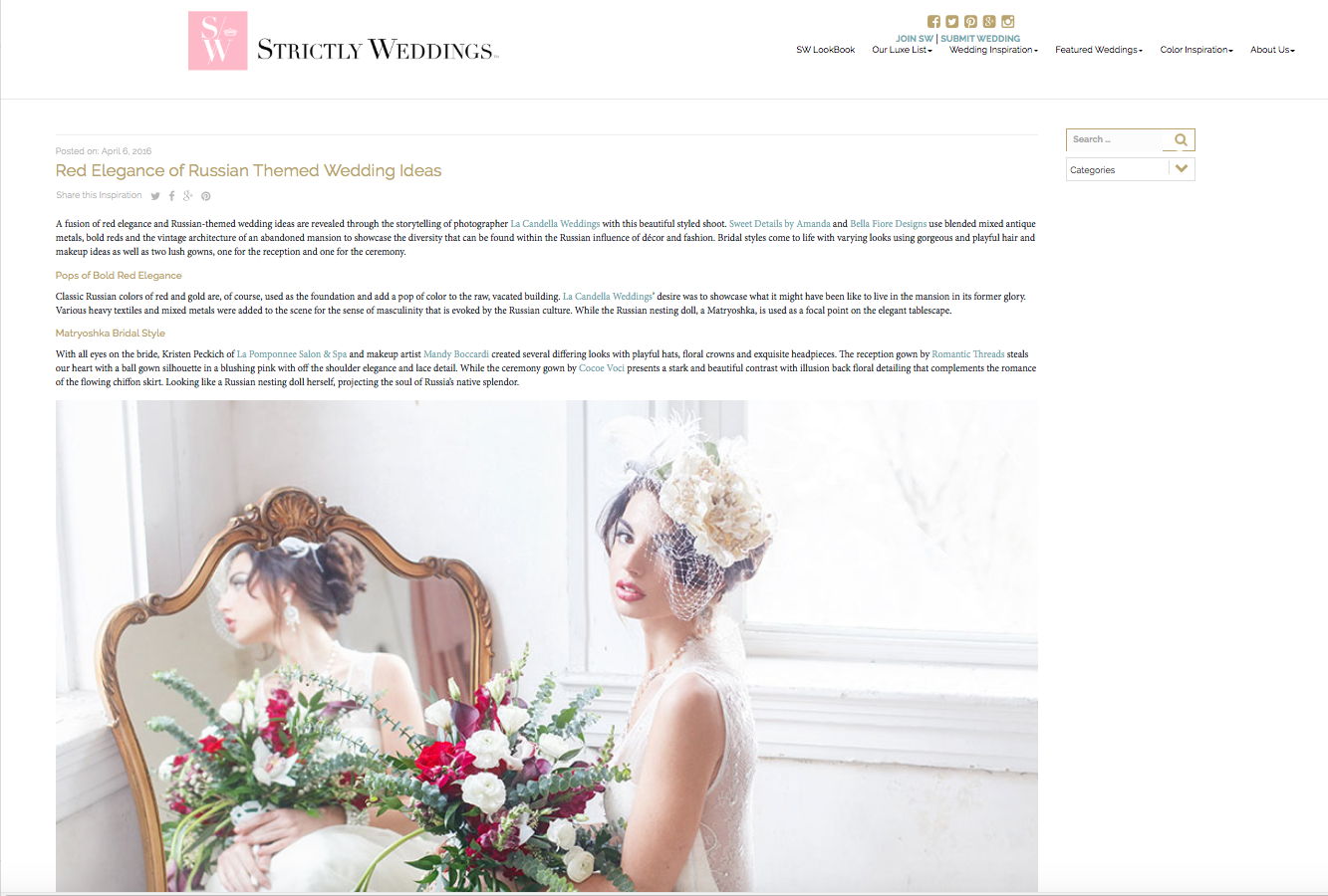 Edera Jewelry Featured on Strictly Weddings