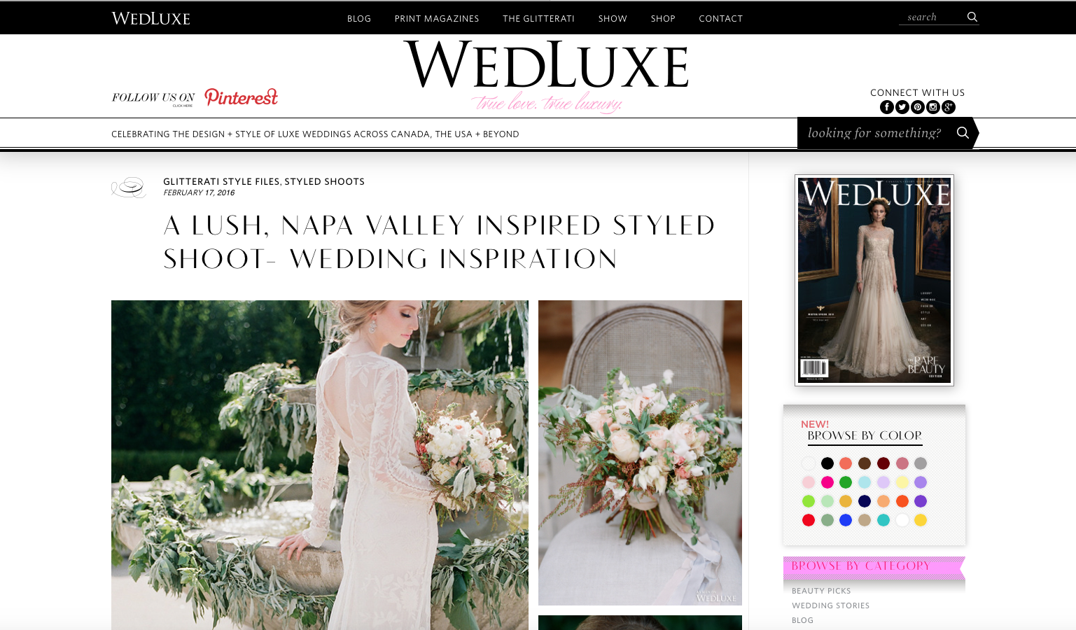 Garland of Roses Earrings Featured on WedLuxe