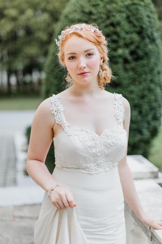 Damask Rose Earrings, Hair Vine & Bracelet