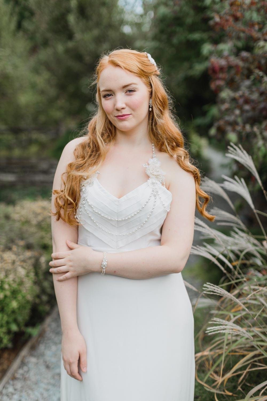 Camellia Bracelet & Tea Rose Shoulder Necklace