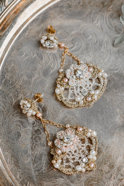 Damask Rose Earrings