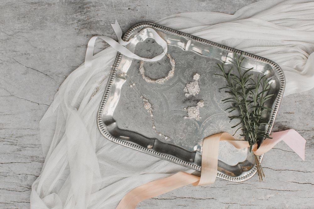 Gardenia Bracelet, Aster Earrings, & Camellia Necklace