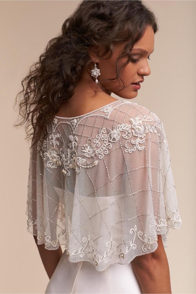 BHLDN Lace, Pearl, Crystal Wedding Earrings | Edera Jewelry for BHLDN