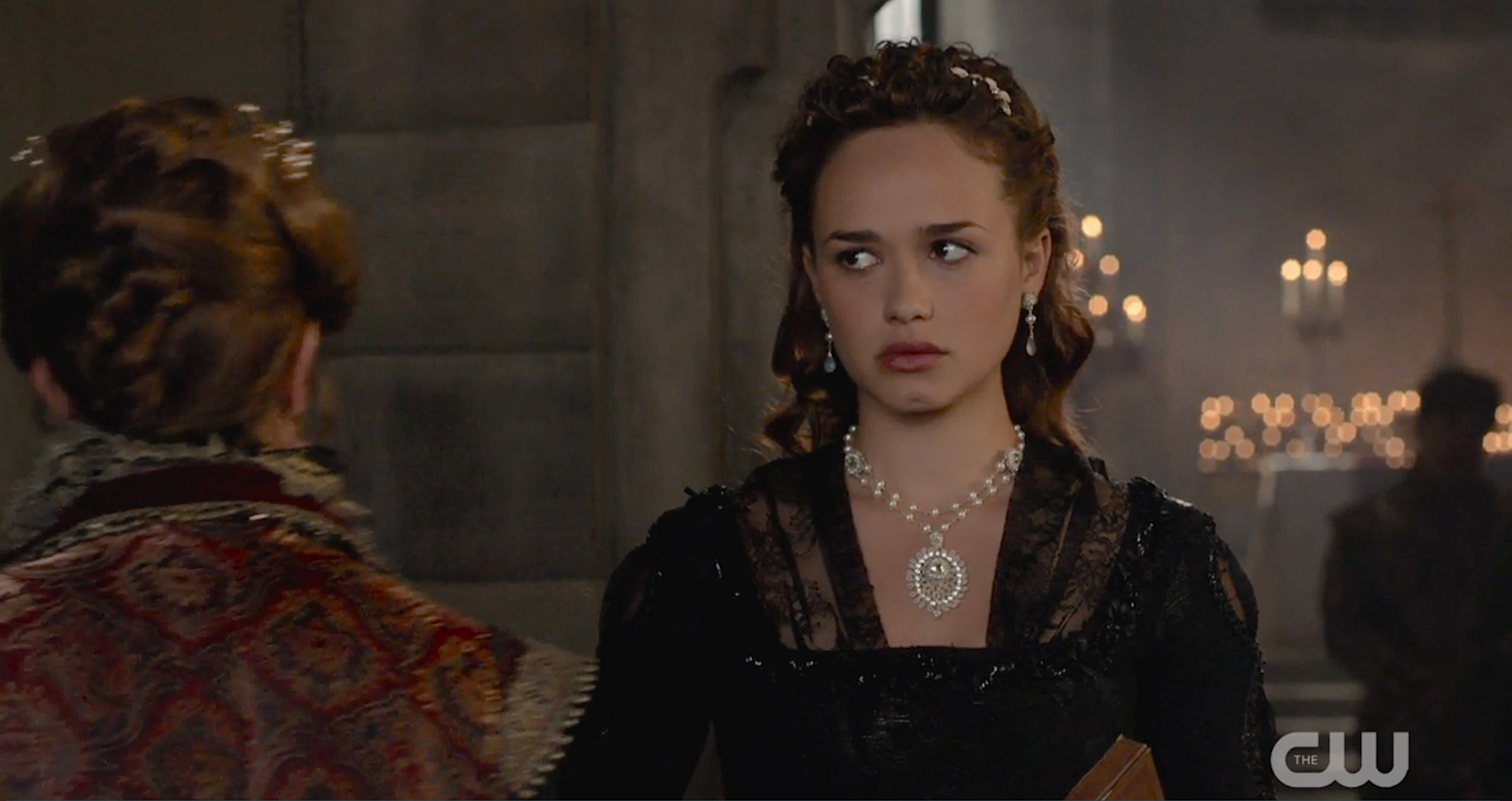 Edera 'Lilliane' necklace and 'Fleurette' earrings featured on Reign.