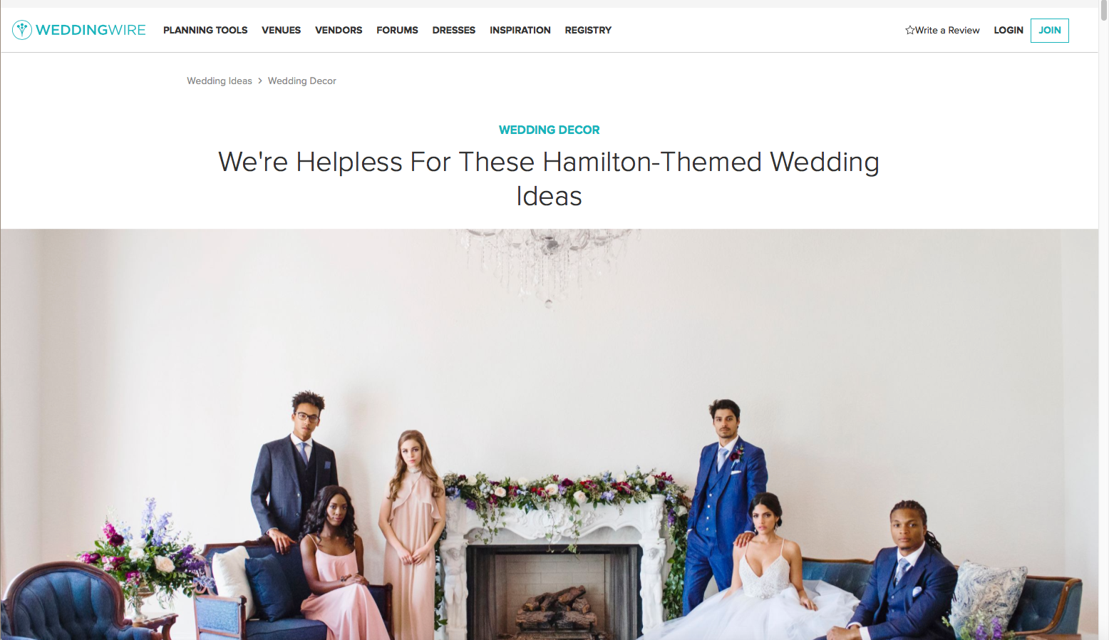 Edera designs featured on WeddingWire