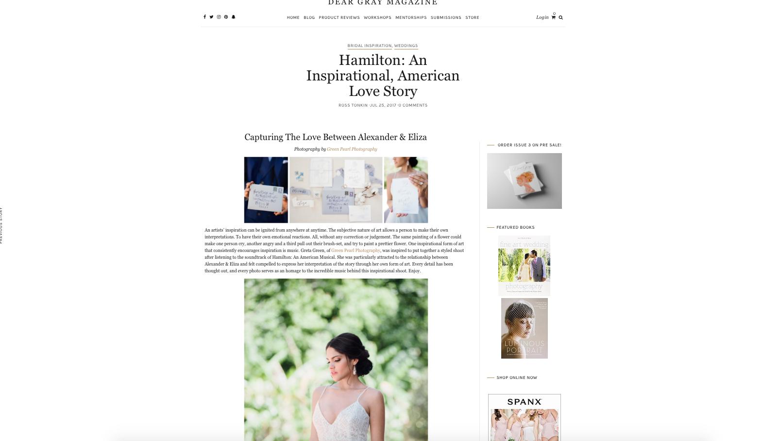 Edera designs featured on Dear Gray Magazine