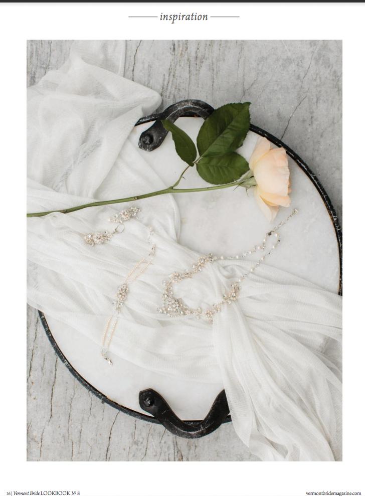 Edera designs featured in Vermont Bride Magazine