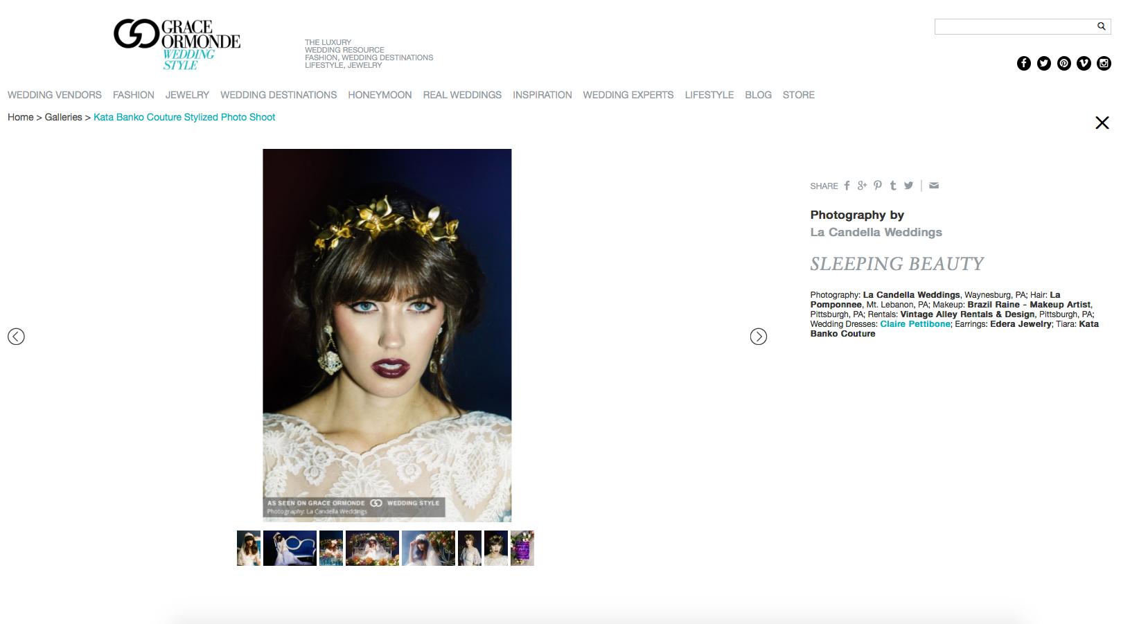 Edera Jewelry earrings featured on Grace Ormonde Weddings.