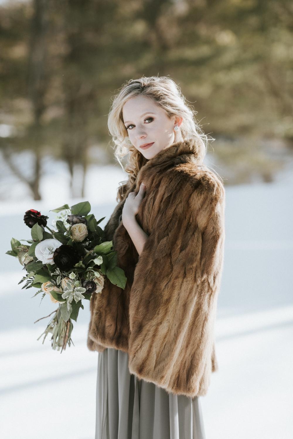 Edera Jewelry Blog: Bohemian Winter Wedding Inspiration in Berkshires