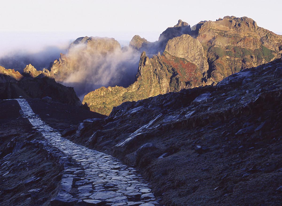 mountain path to Pico Ruivo, Madeira