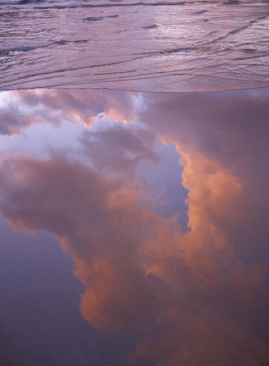 low tide reflection, Ireland