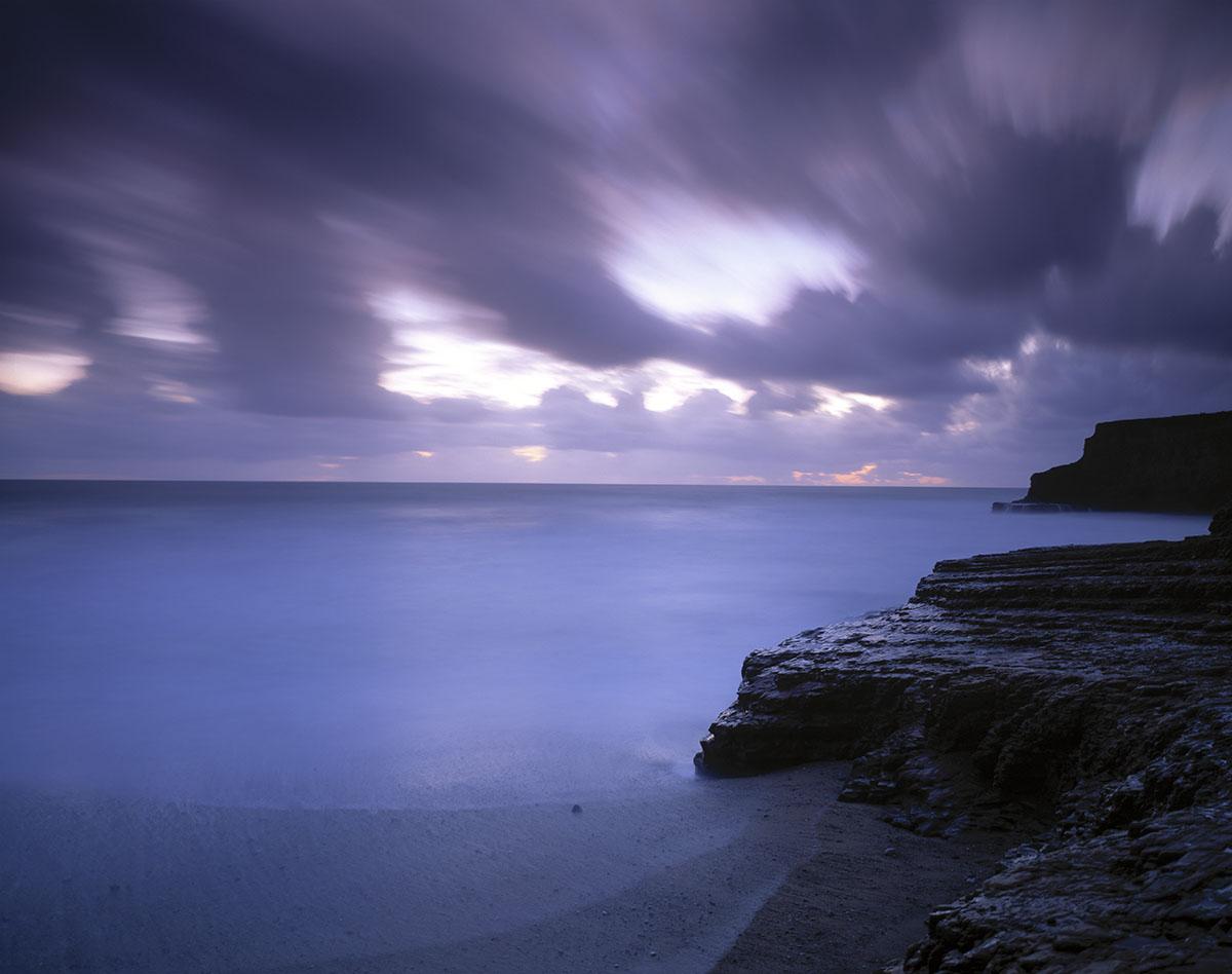 streaking clouds, Davenport Beach
