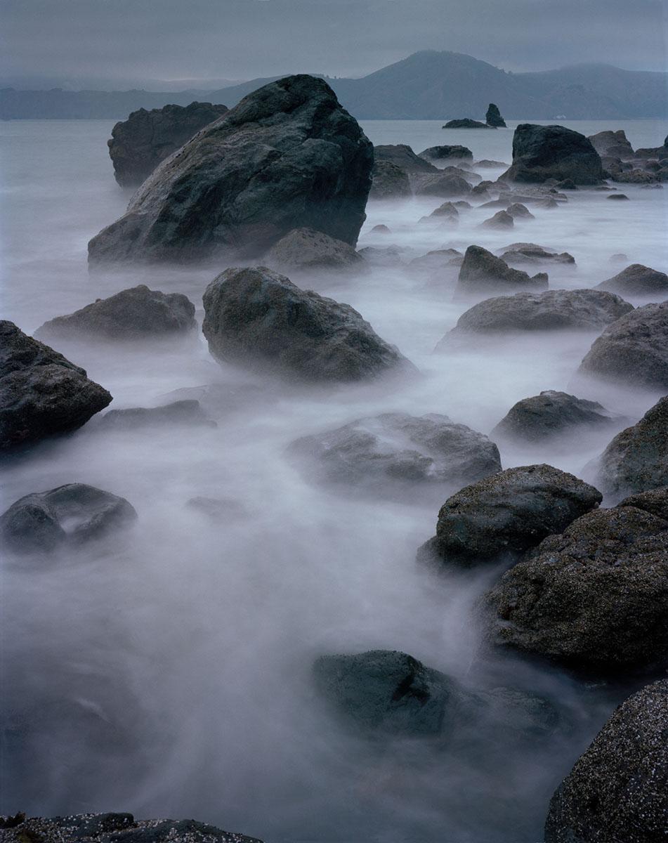 rocks and surf, San Francisco