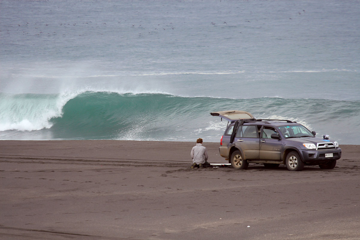 beachbreak parking lot, Punta de Lobos
