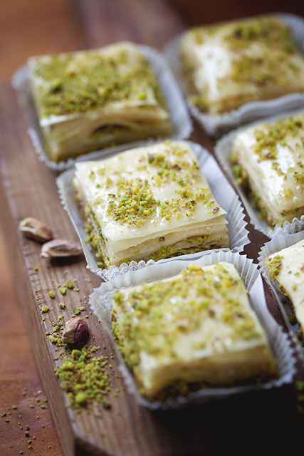 Our signature Exquisite Pistachio Baklava, handmade, using only the finest ingredients.
