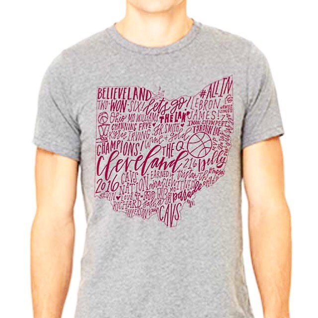 The CLE champs shirt is up for sale! Come and get one while quantities last!! Link is in bio! They are unisex adult soft canvas heather grey tees!