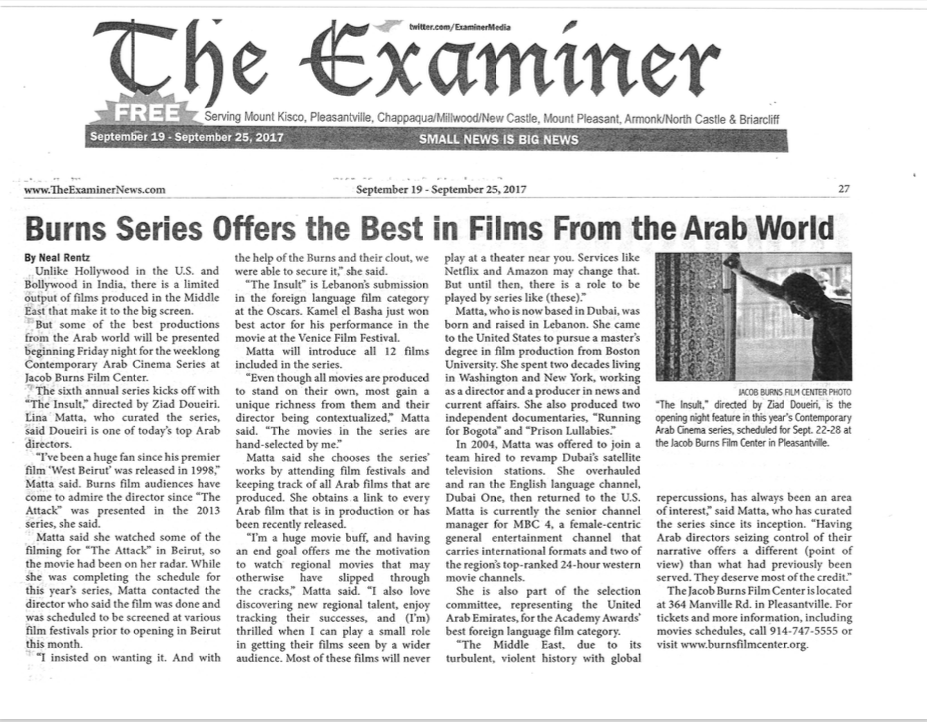Burns Series Offers the Best in Films From the Arab World