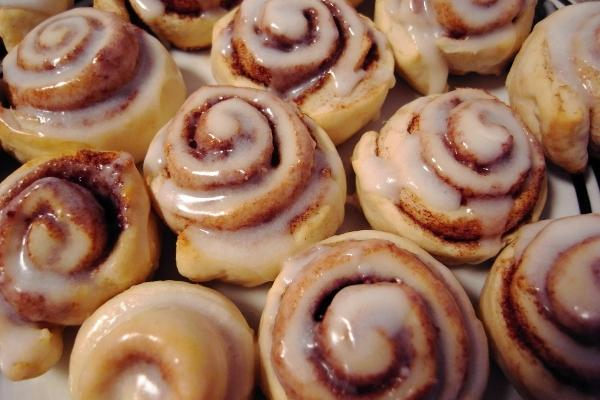 Only the favorite gets extra of Nonnie's sweet rolls.