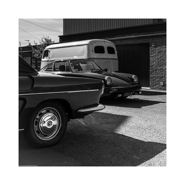 By order of appearance  #renault #floride #1958 #porsche #911 #1978 #peugeot #D4 #1955 #garage #france #vehicles #cars #sportscar #carporn #instatag #vehicle #carsofinstagram #cars #carstagram #sportscars #car #instacar #instacars #drivevintage #vintagecar #porschemoment #blackandwhitephotography #bnw #bnw_planet