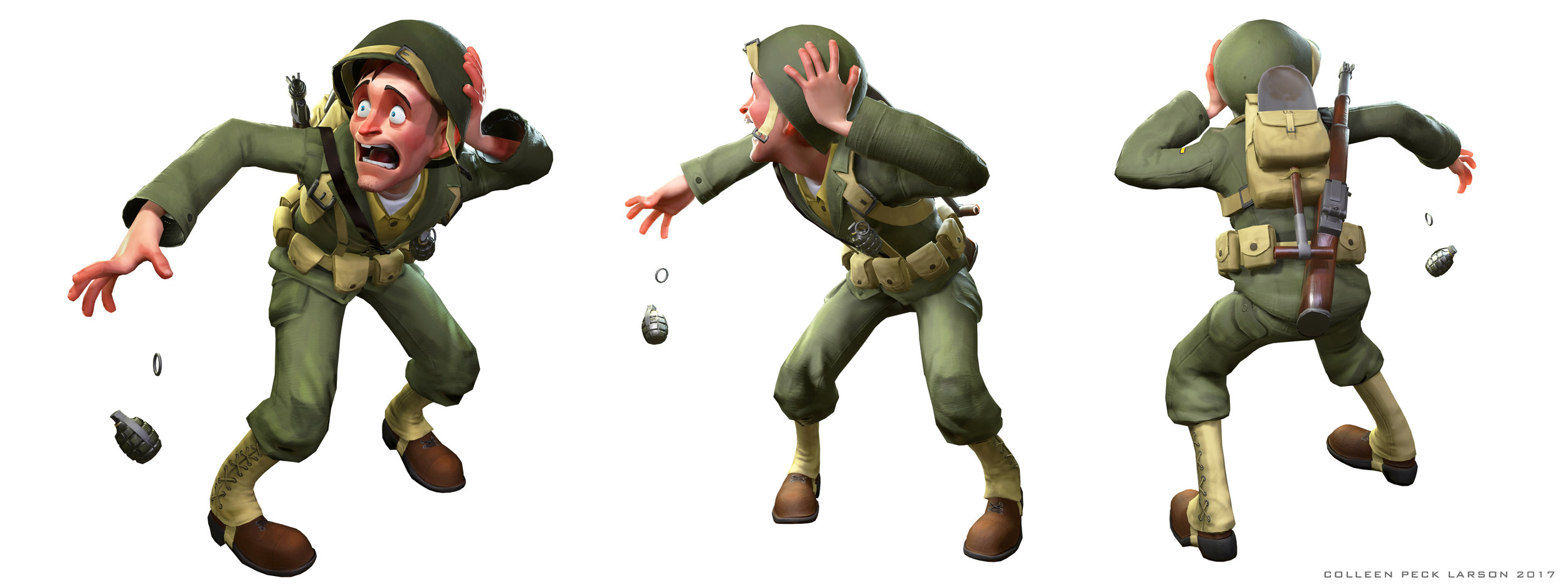 Private Pete Game Model Posed